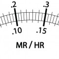 A dial for an old fashioned geiger counter.