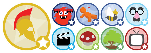 Score.ly badges designed in Adobe Illustrator.