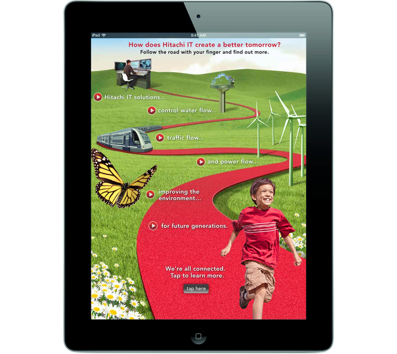 Hitachi Connected BusinessWeek+ - iPad View