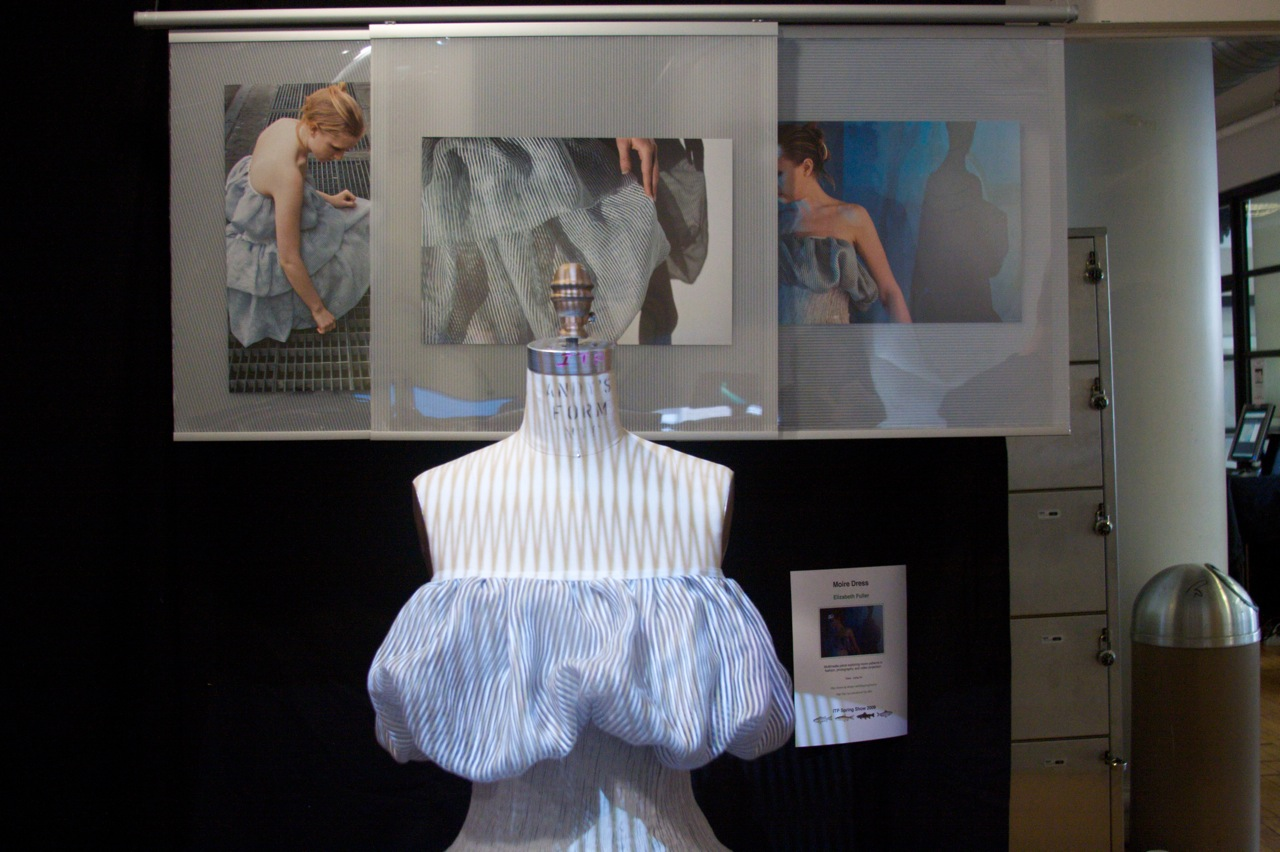 Moire Dress on display.