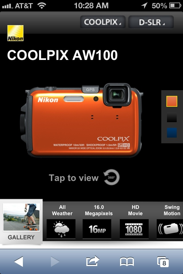 Nikon - Ashton - Product Page screenshot