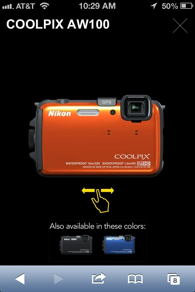 Nikon - Coolpix AW100 - 360 viewer
